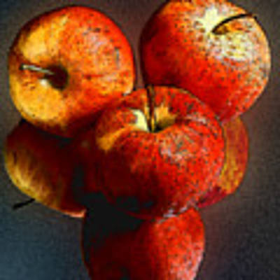 Apples And Mirrors Poster by Paul Wear