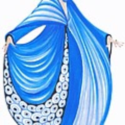Art Deco Lady - Celine Poster by Di Kaye