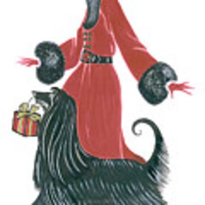 Art Deco Lady - Ruby Poster by Di Kaye