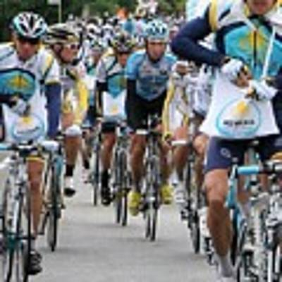 Astana Team With Lance Armstrong Poster by Travel Pics