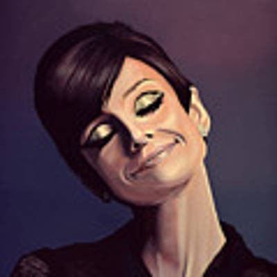 Audrey Hepburn Painting Poster by Paul Meijering