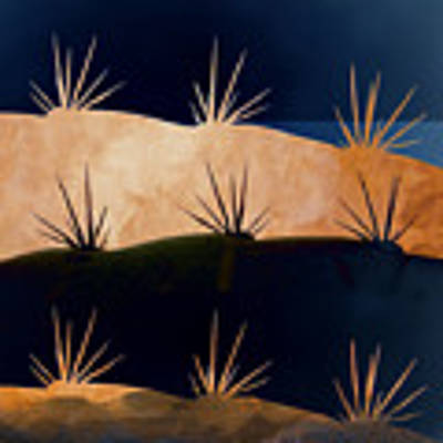 Baja Landscape Number 1 Square Poster by Carol Leigh