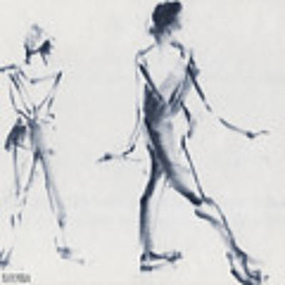 Ballet Sketch Tendu Back Poster by Beverly Brown