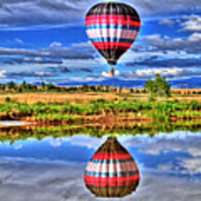 Balloon Reflections Poster by Scott Mahon