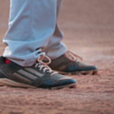 Baseball Cleats In The Dirt Poster by Kelly Hazel
