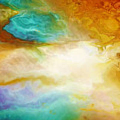 Becoming - Abstract Art - Triptych 2 Of 3 Poster by Jaison Cianelli