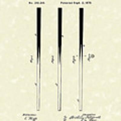 Billiard Cue 1879 Patent Art Poster by Prior Art Design