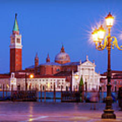 Blue Hour In Venice Poster by Barry O Carroll
