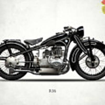 The R16 Motorcycle Poster by Mark Rogan