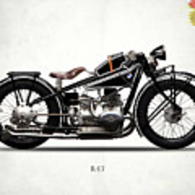 The R47 Motorcycle Poster by Mark Rogan