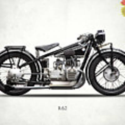 The R62 Motorcycle Poster by Mark Rogan