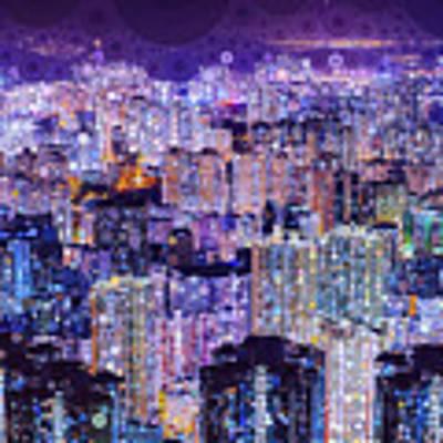 Bright Lights, Big City Poster by Susan Maxwell Schmidt