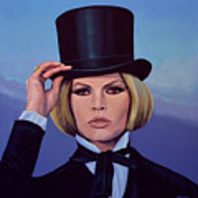 Brigitte Bardot Painting 2 Poster by Paul Meijering