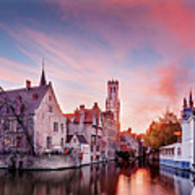 Bruges Sunset Poster by Barry O Carroll