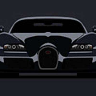 Bugatti Veyron Dark Poster by Michael Tompsett