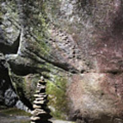 Cairn Rock Stack At Jones Gap State Park Poster by Kelly Hazel