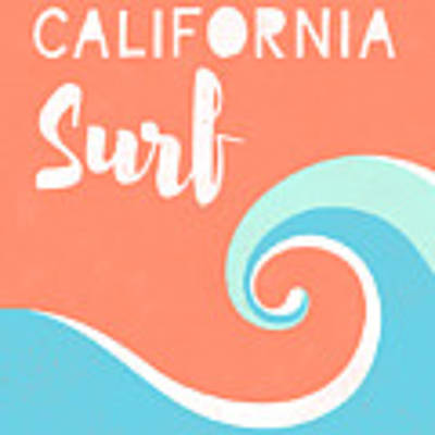 California Surf- Art By Linda Woods Poster by Linda Woods