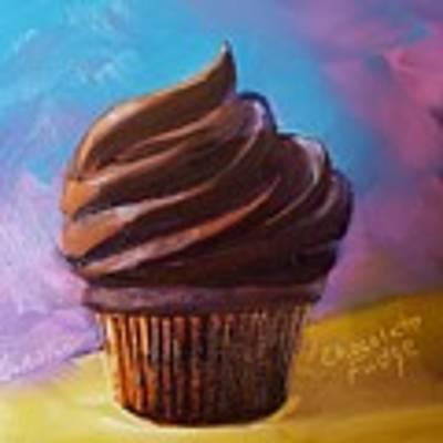 Chocolate Fudge Cupcake Poster by Judy Fischer Walton