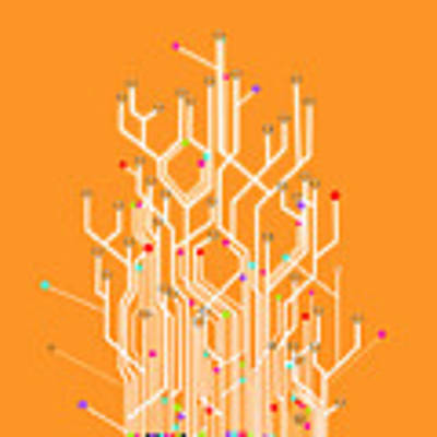 Circuit Board Graphic Poster