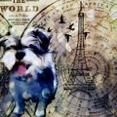 City Girl Goes To Paris Poster by Delight Worthyn