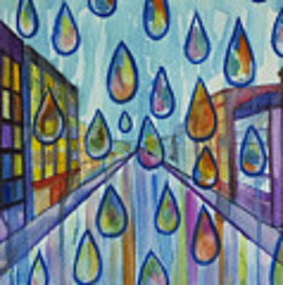 City Rain Poster by Angelique Bowman