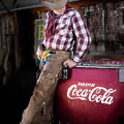 Classic Coca-cola Cowboy Poster by James Sage