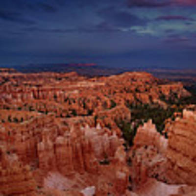 Clearing Storm Over The Hoodoos Bryce Canyon National Park Poster by Dave Welling