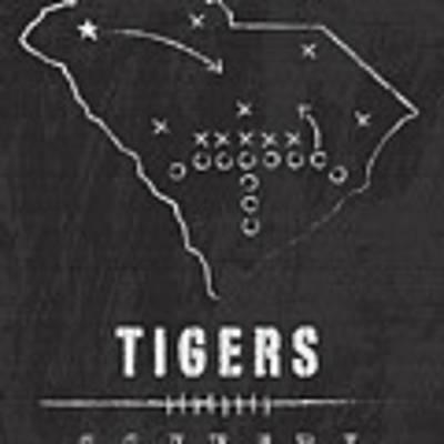 Clemson Tigers / Ncaa College Football Art / South Carolina Poster by Damon Gray