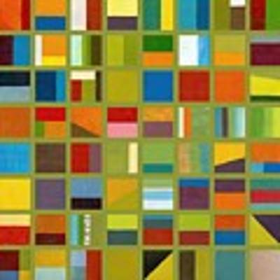 Color Study Collage 64 Poster