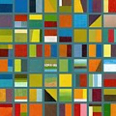 Color Study Collage 67 Poster