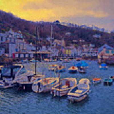 Cornish Fishing Village Poster by Paul Gulliver
