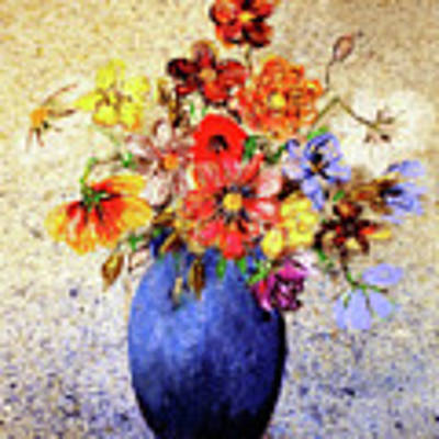 Cornucopia-still Life Painting By V.kelly Poster by Valerie Anne Kelly