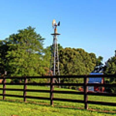 Country Farm Scene Poster by Doug Camara