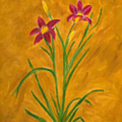 Day Lilies #3 Poster by Linda Feinberg