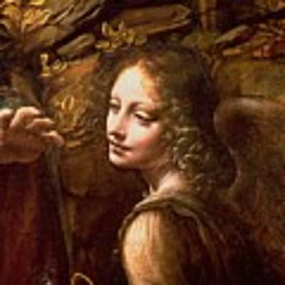 Detail Of The Angel From The Virgin Of The Rocks  Poster
