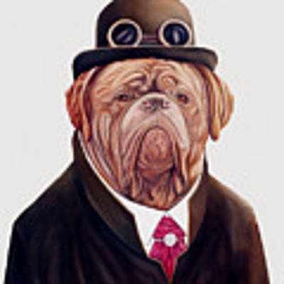 Dogue De Bordeaux Poster by Animal Crew