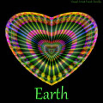 Earth Poster by Visual Artist Frank Bonilla
