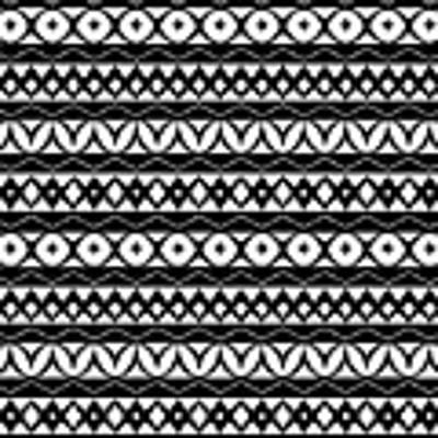 Fair Isle Black And White Poster