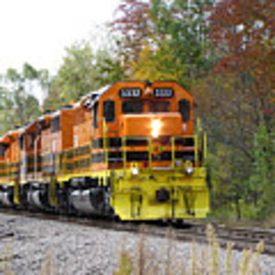 Fall Train In Color Poster by Rick Morgan