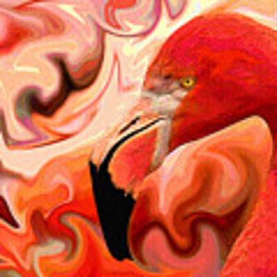 Flamingoed An Abstract In Pink Poster by Shelli Fitzpatrick