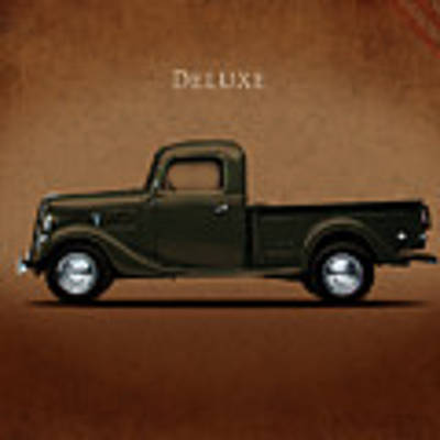 Ford Deluxe Pickup 1937 Poster