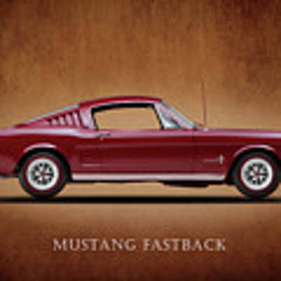 Ford Mustang Fastback 1965 Poster