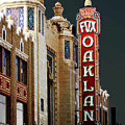 Fox Theater In Oakland California Poster by San Francisco Art and Photography