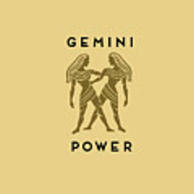 Gemini Power Poster by Judy Hall-Folde