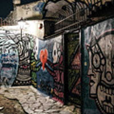 Graffiti In Plaka I Poster by James Billings