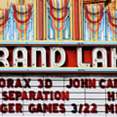 Grand Lake Theatre Oakland California 7d13530 Poster by San Francisco Art and Photography