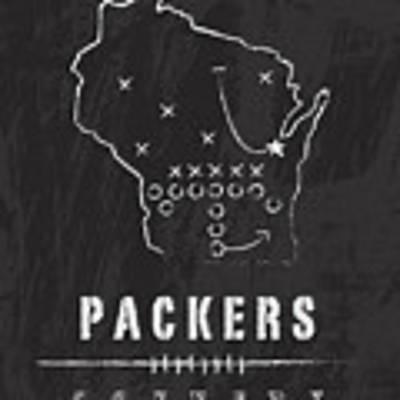 Green Bay Packers Art - Nfl Football Wall Print Poster by Damon Gray