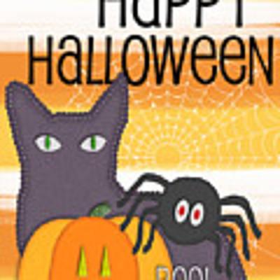 Halloween Friends- Art By Linda Woods Poster
