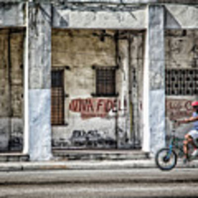 Havana Graffiti Street Scene Poster by Gigi Ebert