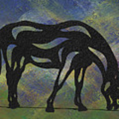 Hazel - Abstract Horse Poster by Manuel Sueess